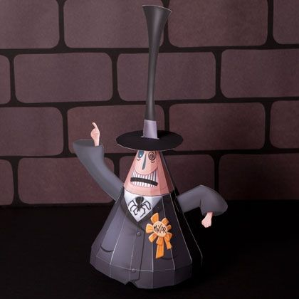 Nightmare Before Christmas Mayor of Halloween Town 3D Papercraft