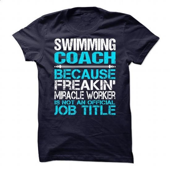 Awesome Shirt For Swimming Coach - #dress #full zip hoodie. BUY NOW =>…