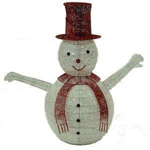 Χιονάνθρωπος 100cm με κόκκινο καπέλο
