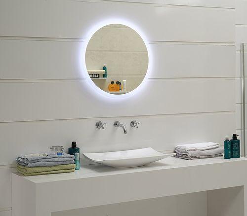 Led Lichtspiegel Jena Rund 60cm Badspiegel Wandspiegel