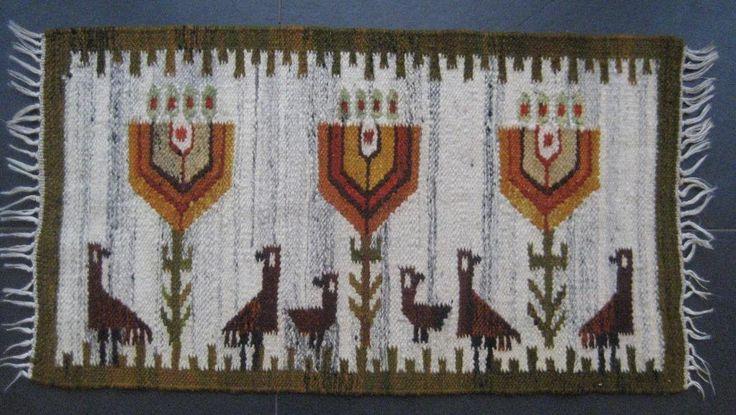 Kelim handwoven wool 1970s door Kilimam op Etsy
