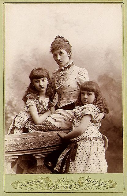 +~+~ Antique Photograph ~+~+  Mother and her two daughters.
