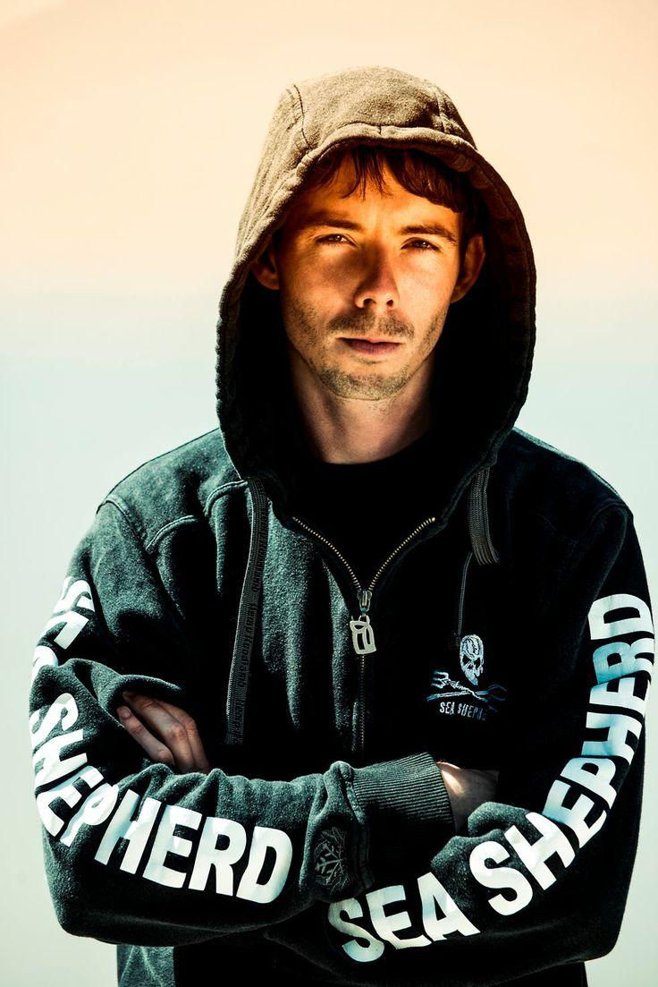 Peter Hammarstedt, captain of the Bob Barker in his HoodLamb x Sea Shepherd Zip Up Hoody http://www.hoodlamb.com/collections/sea-shepherd/products/men-s-sea-shepherd-zip-up-hoody