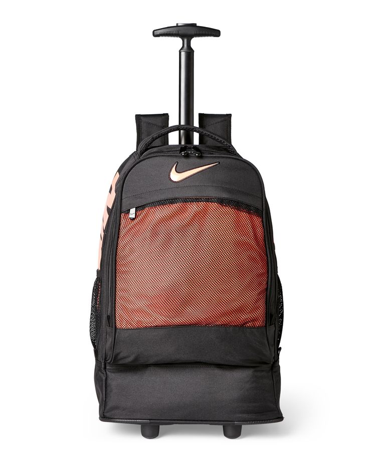 Nike Black & Orange Wheeled Backpack