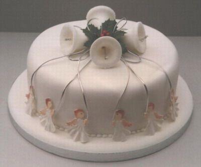 This Christmas bell cake looks so simple yet elegant.
