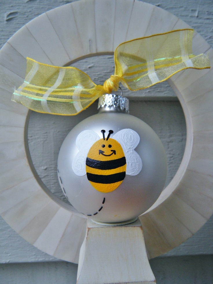 Bumble Bee Ornament Personalized Free