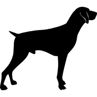 German Shorthair Pointer Silhouette tattoos.