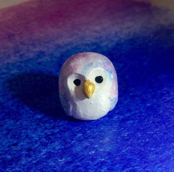 Tiny Galaxy Owl by IcyBubbleCreations on Etsy