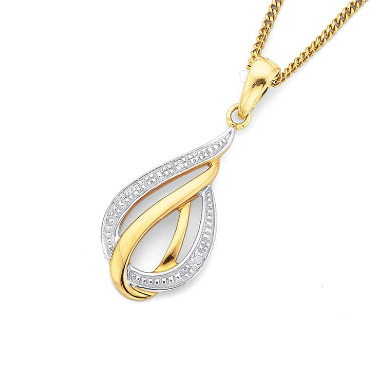 9ct Gold Diamond Set Pendant - Pascoes The Jewellers