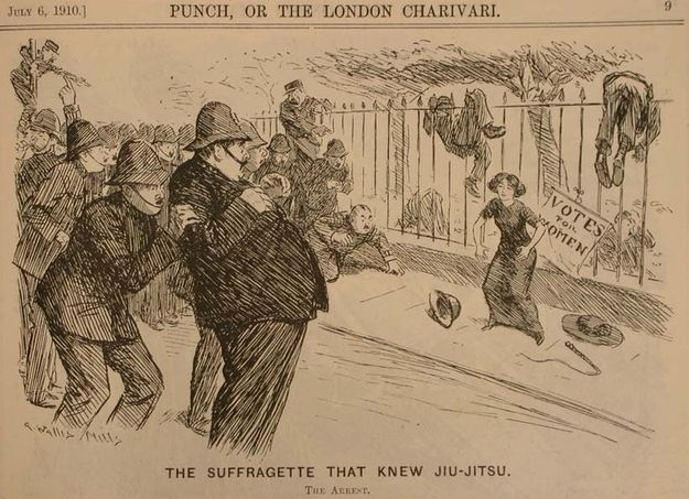 And suffragettes got a reputation for vigorously defending their rights. | Victorian Society Ladies Defended Their Honor With Jiu-Jitsu