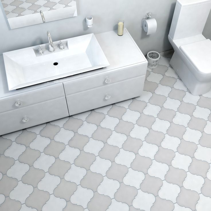 Somertile 8x8 inch morocco provenzale white porcelain for Bathroom ideas 8x8