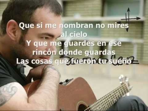 Desde Lejos (letra) Santiago Cruz - YouTube