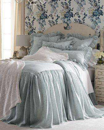 Savannah+Bedding+by+Pine+Cone+Hill+at+Horchow.   LOVE This  BEDDING!  So soft and romantic for master suite!