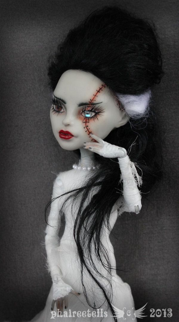 Monster High repaint  Frankenstein Bride portrait by phairee004.deviantart.com on @deviantART