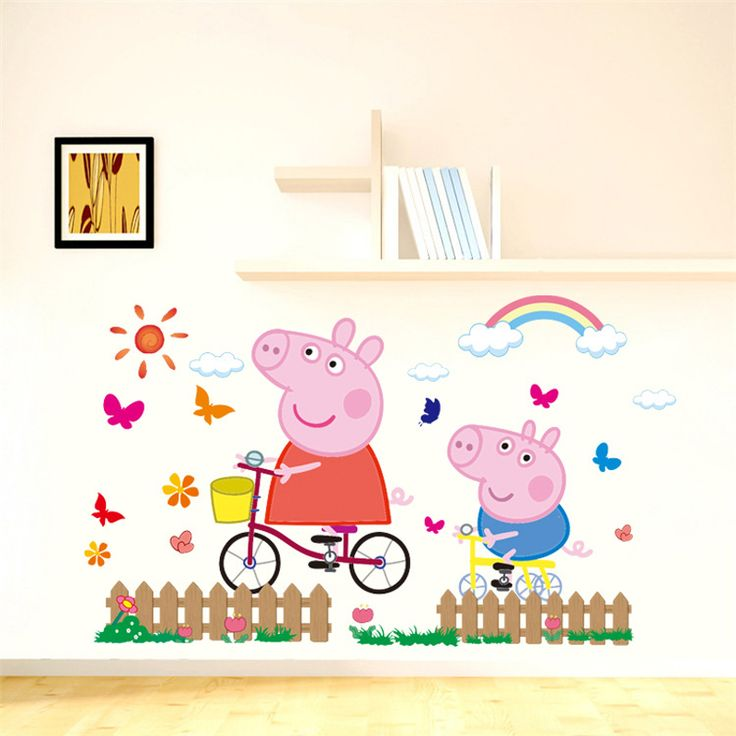 peppa pig removable