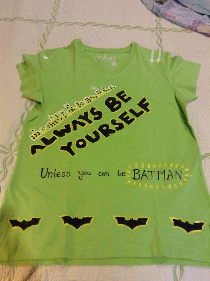 Batman tshirt painting.