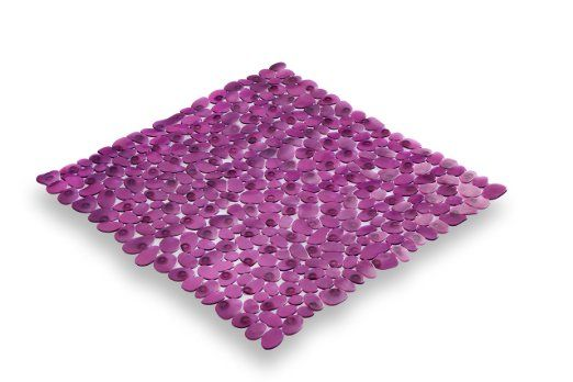 Carpemodo Pebble PVC Bath Mat Anti slip mat size 52x52 cm color purple: Amazon.co.uk: Kitchen & Home