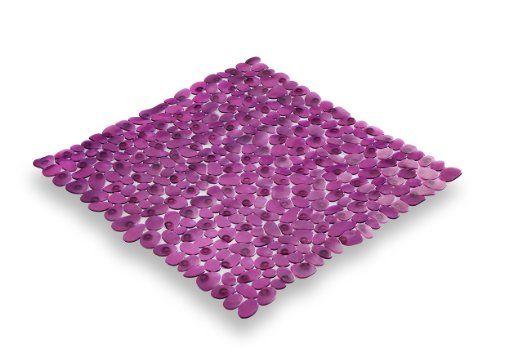 Carpemodo Pebble PVC Bath Mat Anti slip mat size 52x52 cm color purple: Amazon.co.uk: Kitchen & Home
