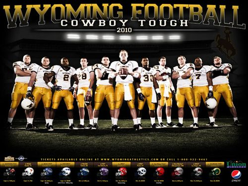 high school football posters idea mud | University of Wyoming Football Team Photo