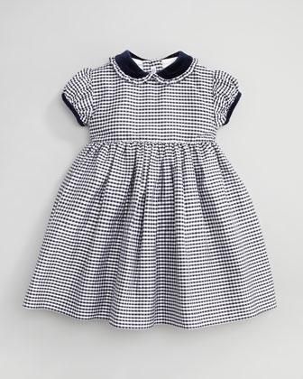 Check Taffeta Dress - Neiman Marcus