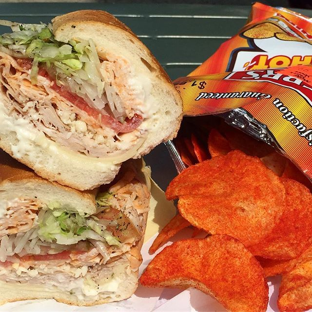 (Roasted Turkey, Buffalo Chicken, Pepper Cheese, & we added Sharp Provolone Cheese).