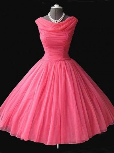 Simple Dress 2015 Prom Dresses, Vintage Watermelon Dresses, Short Prom Dresses 2014, Chiffon Prom Dresses CHPD-7047