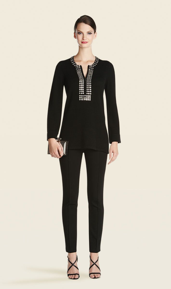 Bijou black tunic, Perspective black pant | Carlisle Collection | Per Se | Collections | Lookbook | Carlisle | Holiday 2013 | 28