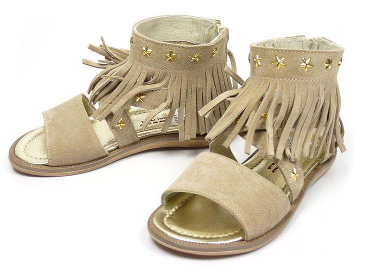 EB Shoes 900 franje sandalen - beige