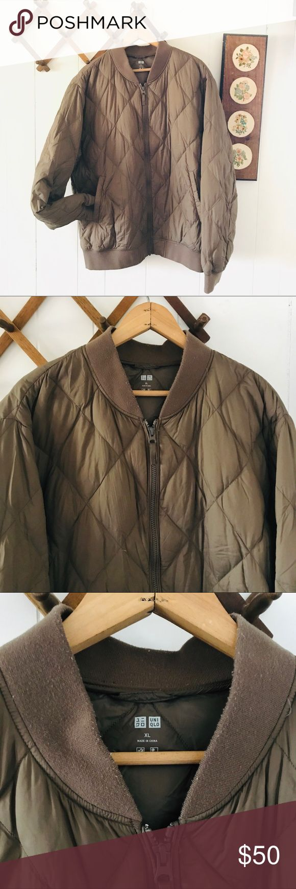 Uniqlo Down Quilted Bomber Jacket Quilted bomber jacket