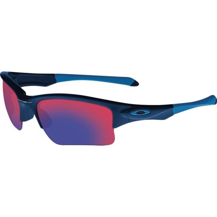 Oakley Kids' Quarter Jacket Baseball Sunglasses, Blue