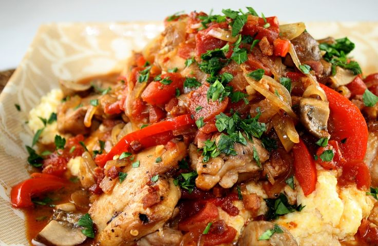 Biggest Loser Chicken Cacciatore - 9 Smartpoints | Weight Watchers Recipes