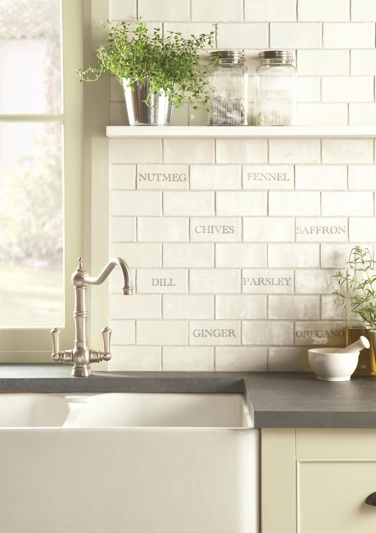 A pinch of spices and a handful of herbs to enhance your recipes and your walls! Handmade ceramic tiles, made in the UK. winchestertiles.com