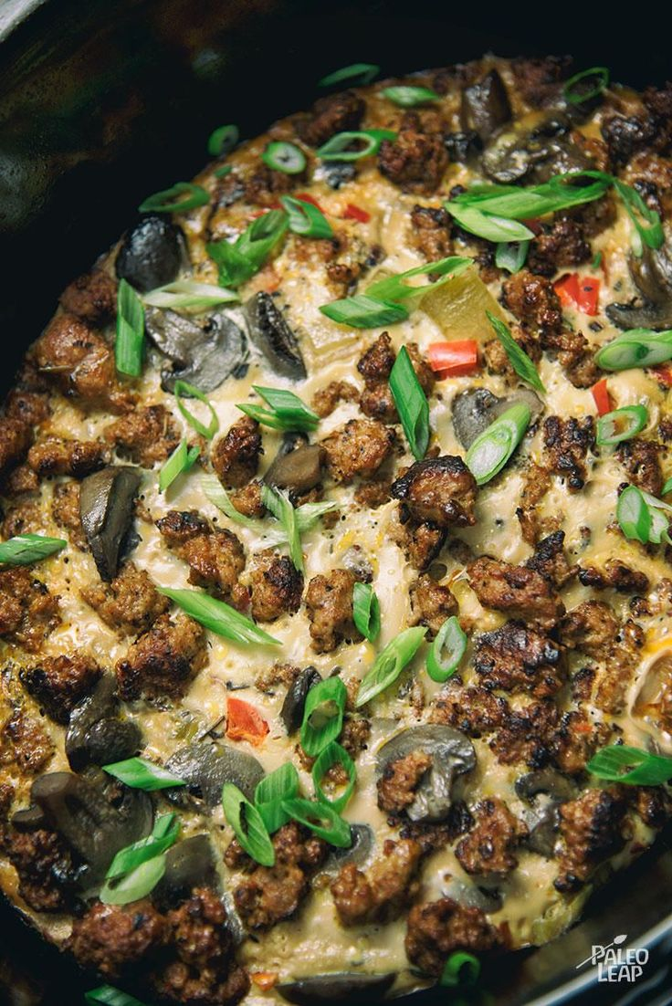 Slow-Cooker Breakfast Casserole #Paleo