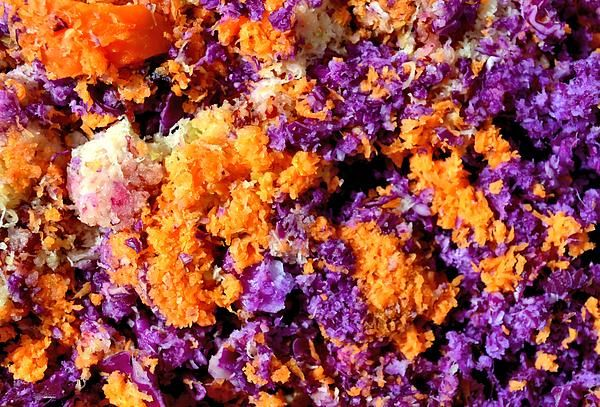 Carrots & red cabbage pulp