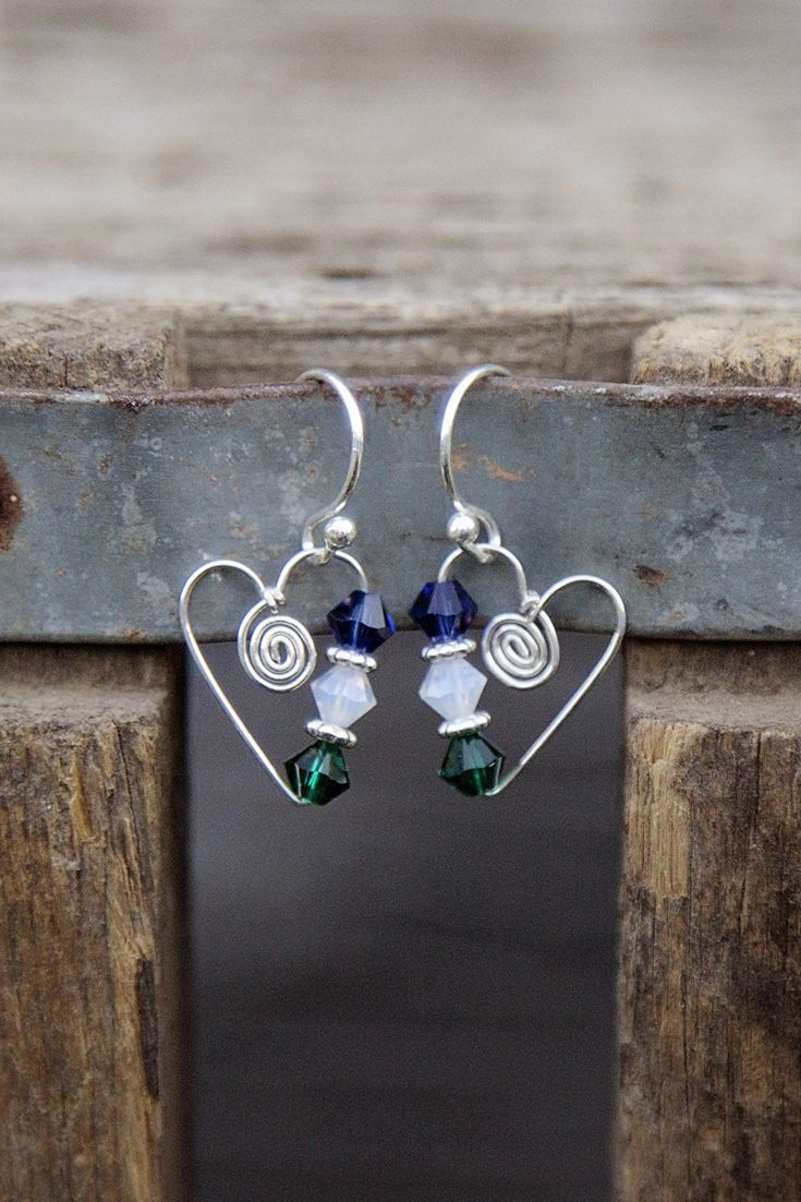 Super cute and lightweight, these birthstone heart earrings from Jules Jewelry are a perfect gift idea!