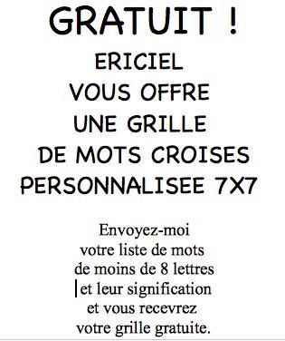 Les grilles de mots crois s 7x7 sont gratuites chez - Grille mots croises michel laclos gratuites ...