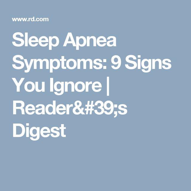 Sleep Apnea Symptoms: 9 Signs You Ignore | Reader's Digest