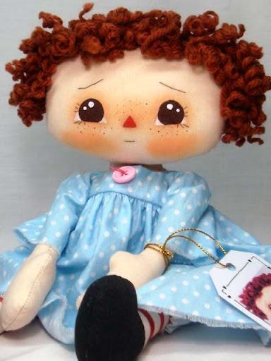 Baby blue Raggedy Ann