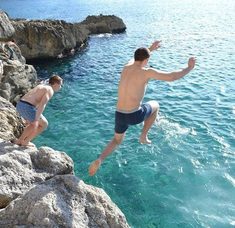 Capri leap into the blue