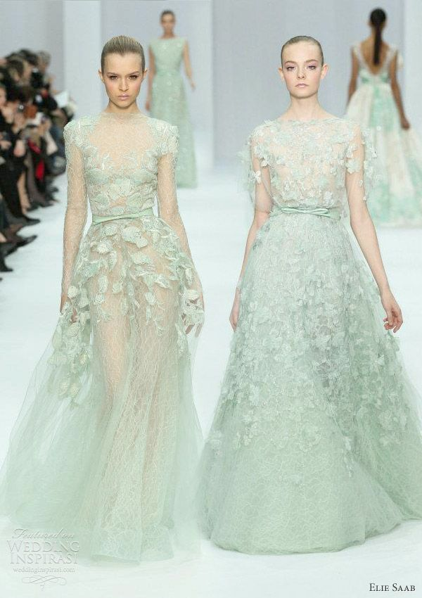 This Is The Color I Want For My Bridesmaids Elie Saab Haute Couture Spring 2011