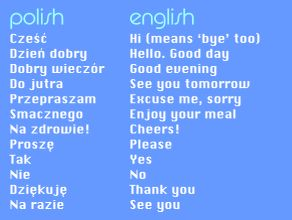 polish phrases- Some of the foreign delegates coming to the Int'l Convention are from Poland...