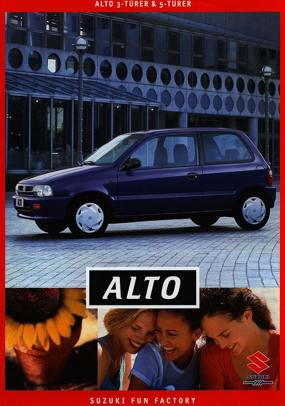 Suzuki Alto 3-Türer & 5-Türer; 1999 | auto car brochure | by worldtravellib World Travel library - The Collection