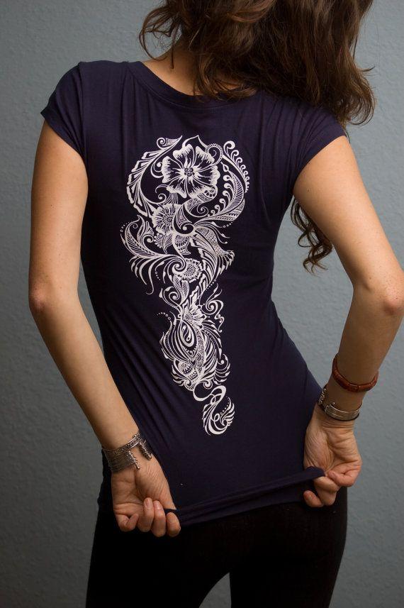 Henna shirt, screen print