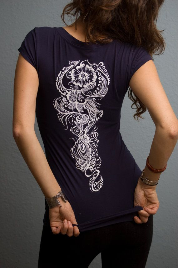 Henna shirt, screen print