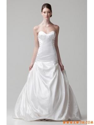Nowoczesny styl prosty tanie suknia ślubna 2013
