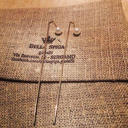 Orecchini oro e perle Pagina Facebook Della Spiga Gioielli