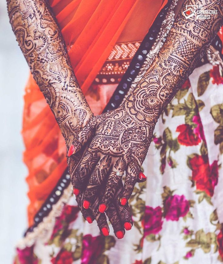 Floral mehendi designs for your wedding. Photo Courtesy- The Cheesecake Project
