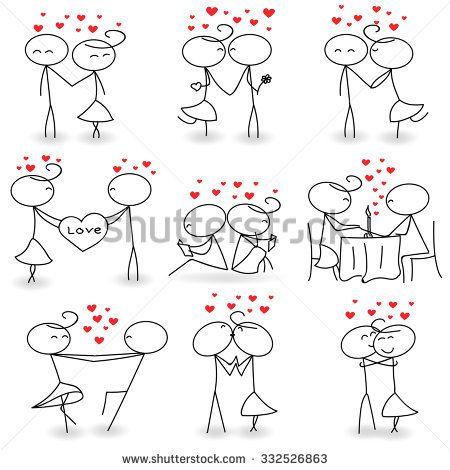 Stick Figure Valentine's Day