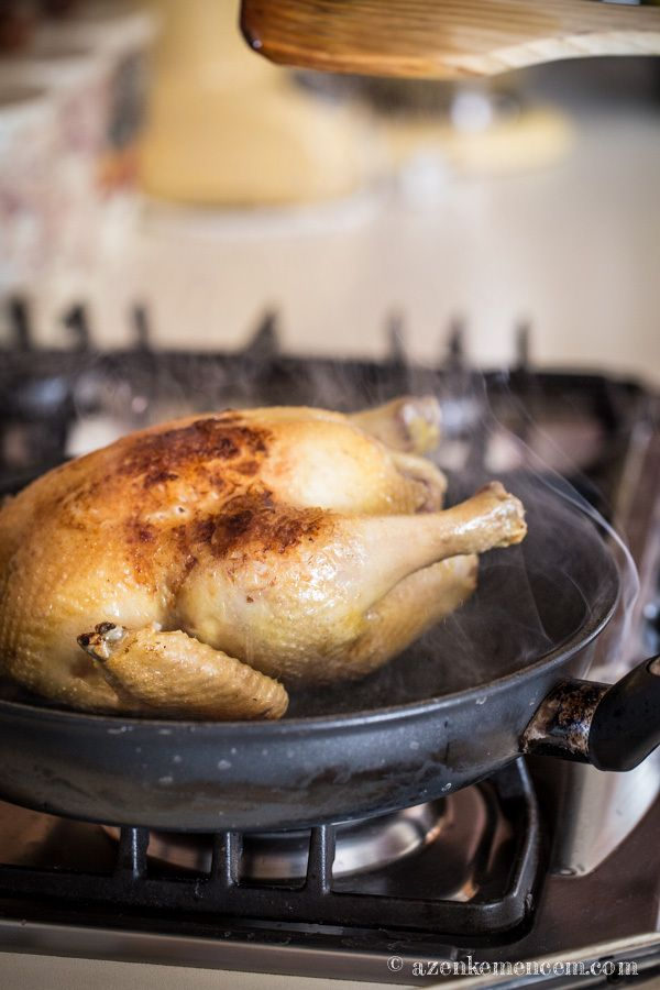 Tanyasi csirke egészben - pirítás mogyoróolajon