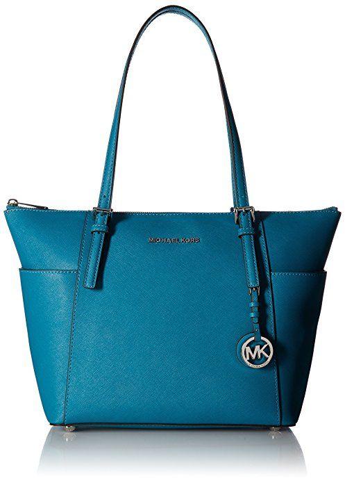 MICHAEL Michael Kors Jet Set Top-Zip Tote (Acorn)  Handbags  Amazon ... 7b68b424f78b9